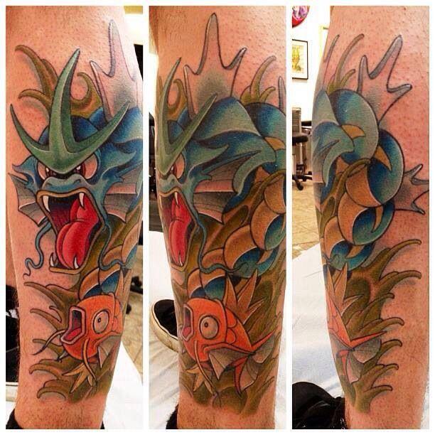 magikarp gyarados tattoo