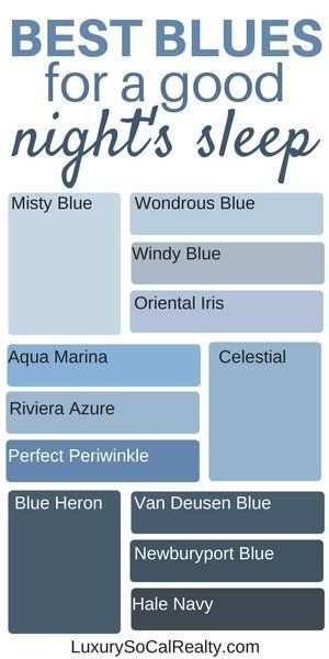 What Are The Best Blue Paint Colors For A Good Night S Sleep Bedroom Color