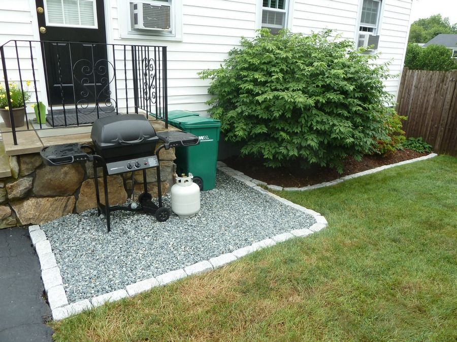 Crushed Stone Patio, Bluestone Patio Crushed Stone Patio Edged With Cobble  Stone Is A Very