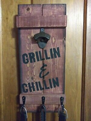 Hand Painted Wooden Grillin & Chillin Sign #fashion #home #garden #homedcor #plaquessigns (ebay link)