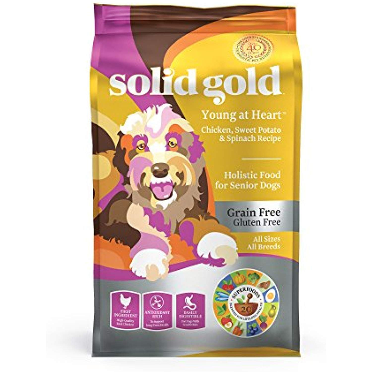 Solid Gold Senior Dog Dry Food Young At Heart Grain Free With