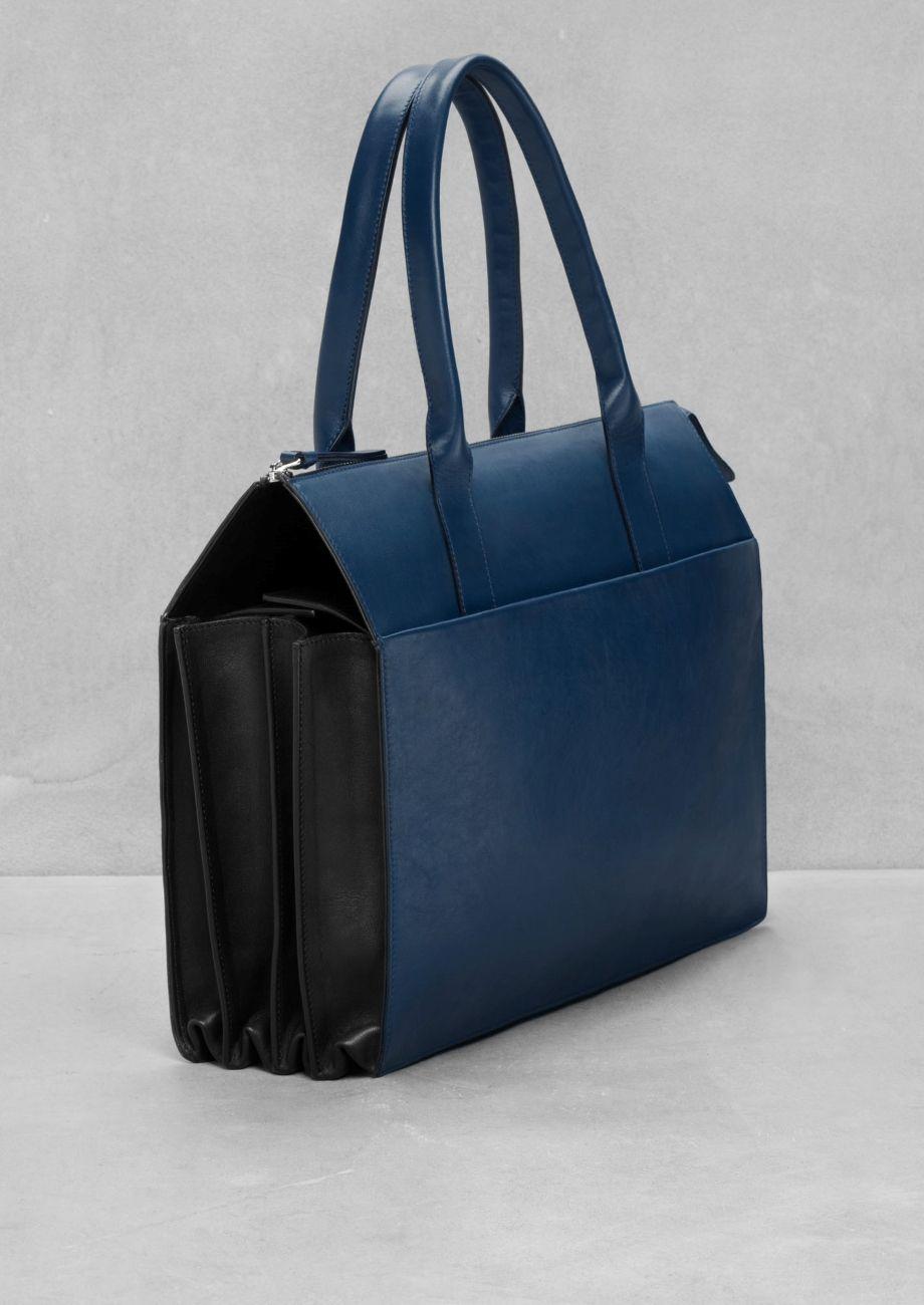 & Other Stories | Pleat Handbag in Blue