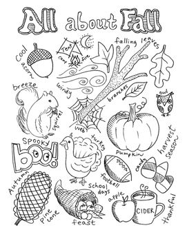 Write And Color Set Fall Elementary Thanksgiving Coloring Pages Fall Coloring Pages Free Thanksgiving Coloring Pages