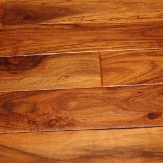 "Acacia Parchment 9/16 x 4-3/4"" Hand Scraped Engineered Hardwood Flooring"