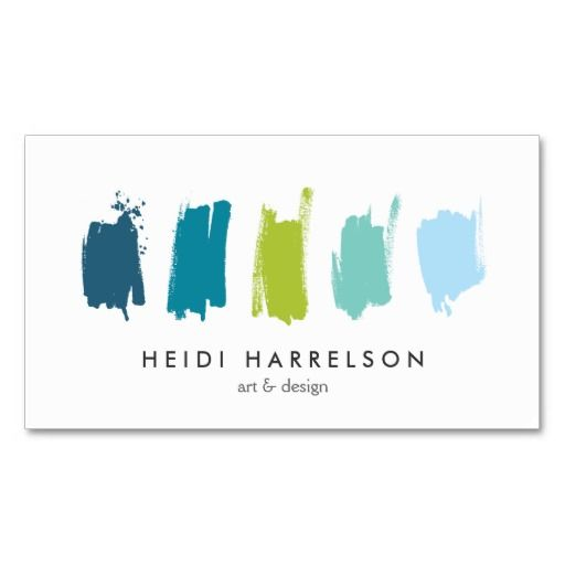 Paint swatches bluegreen business card painter artist paint paint swatches bluegreen business card wajeb Gallery