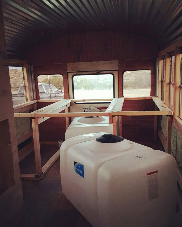 100 Gallon Fresh Water Tanks Skoolie Bus House School Bus Conversion