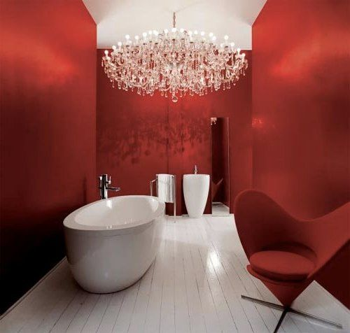My Auckland Plumber: 11 Deliciously Red Bathrooms   Cuarto ...
