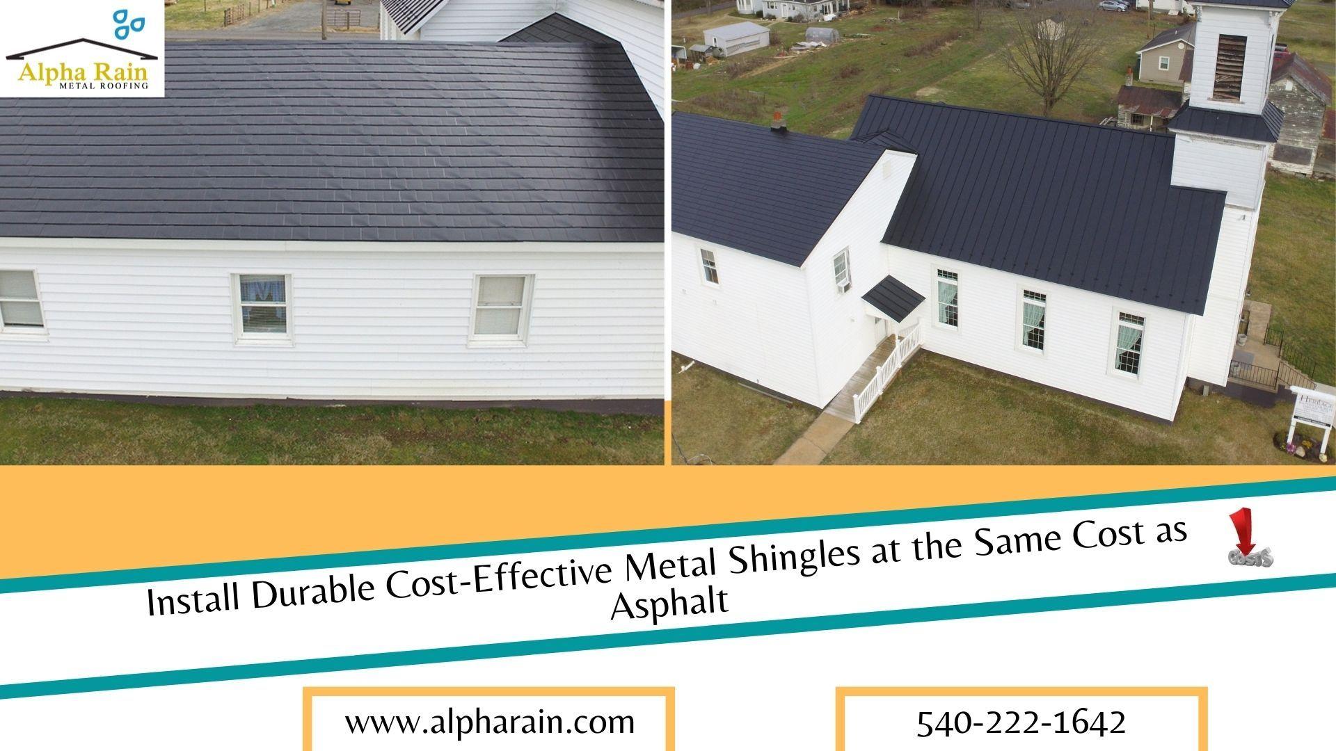Metal Roof Shingles Permanent Roof Alpha Rain In 2020 Metal Shingle Roof Roof Shingles Shingling