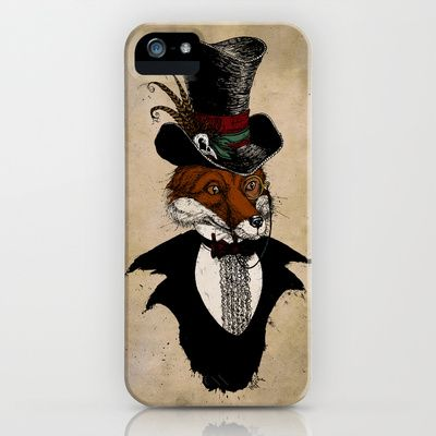 Dandy+Fox+iPhone+&+iPod+Case+by+David+Procter+-+$35.00