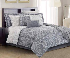 Living Colors Amelia Gray Full 12-Piece Comforter Set - Big Lots