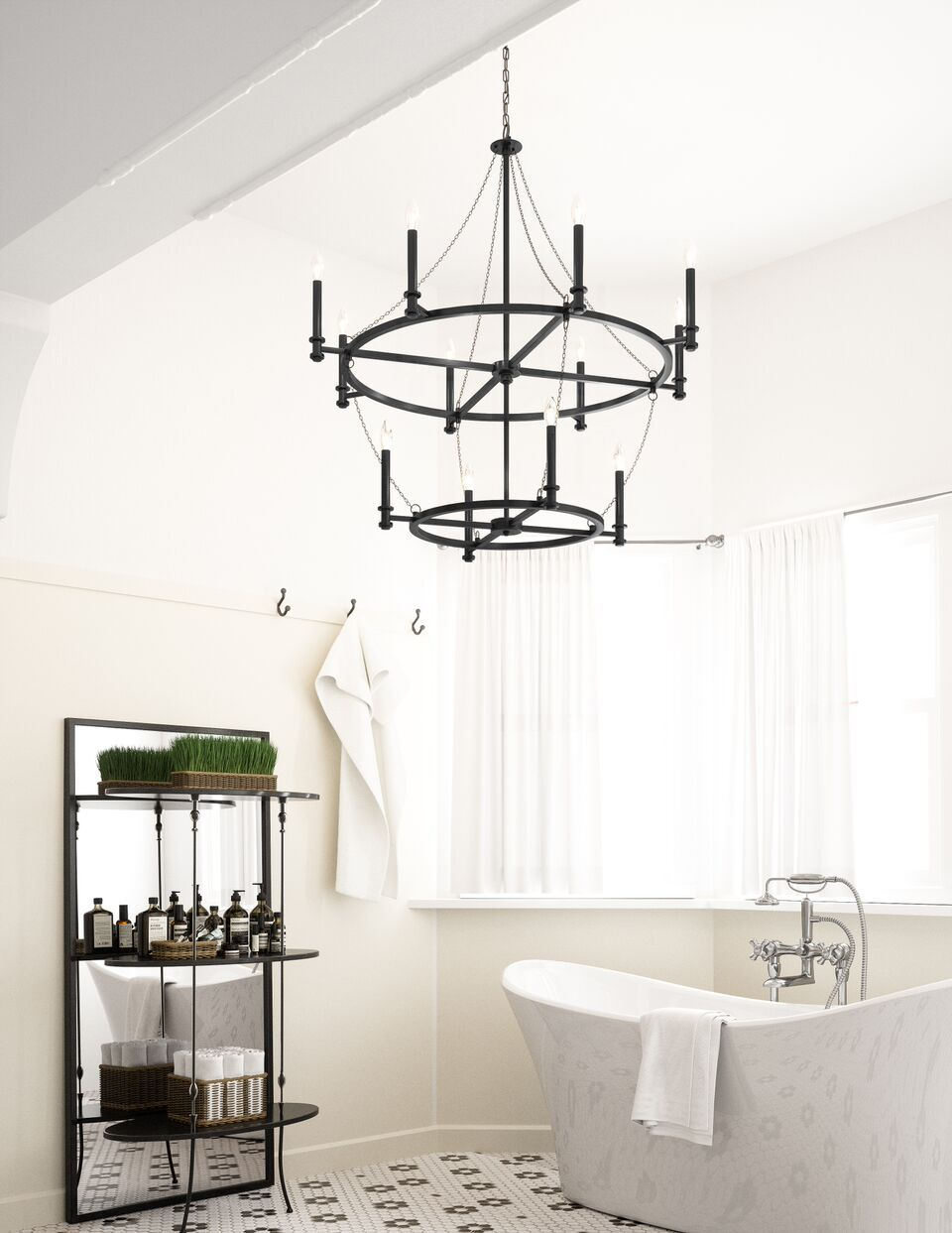 This coastal / Hamptonsstyle pendant light features a