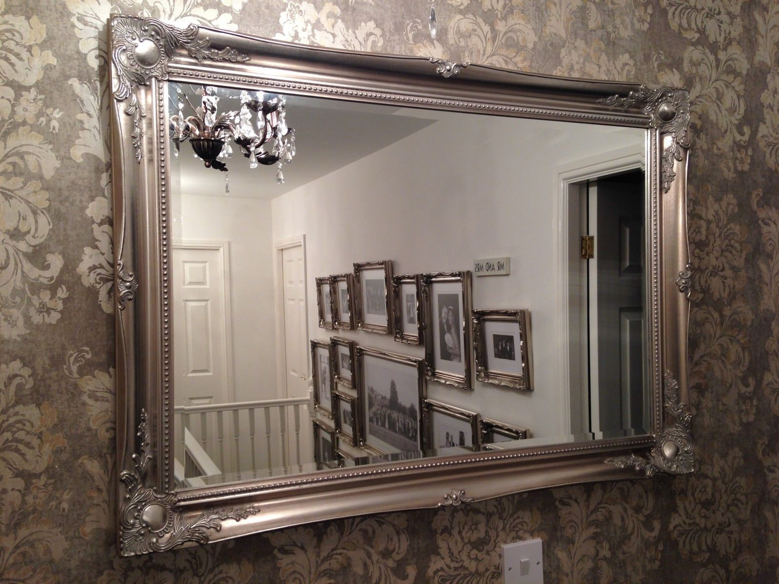 Merveilleux Mirror Large Decorative Mirrors With A Wall Using Wallpaper Looks Like  Something Flirty The Large Decorative