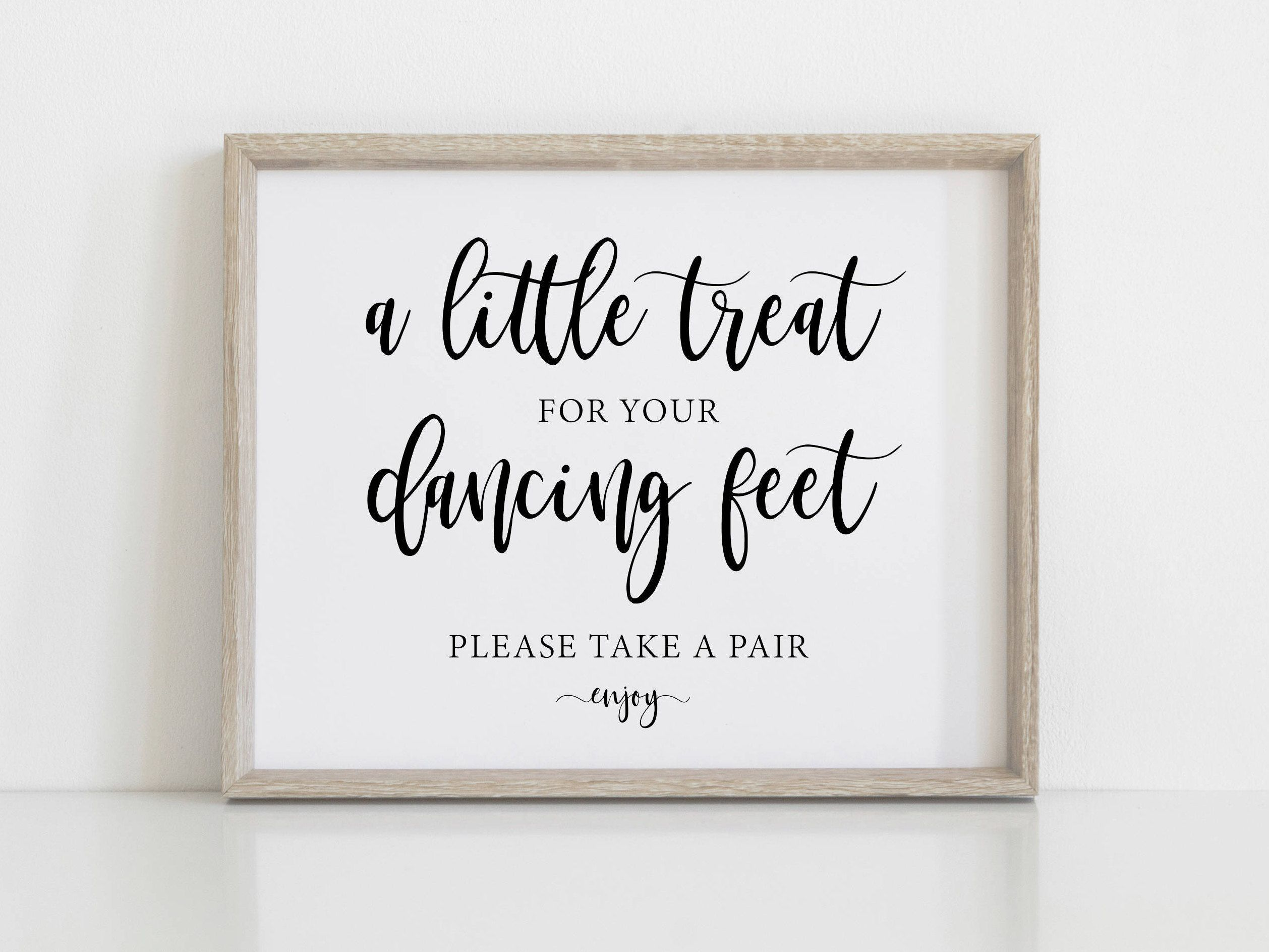 b0a81af717ad4f A little Treat For Your Dancing Feet! Dancing Shoes Printable Wedding Sign