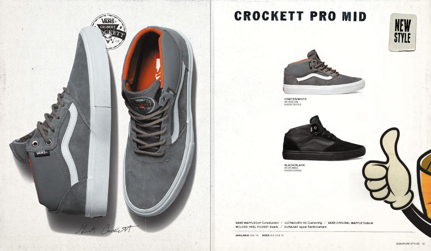 Vans – Crockett Pro Mid | Vans, Vans old skool, Sneakers