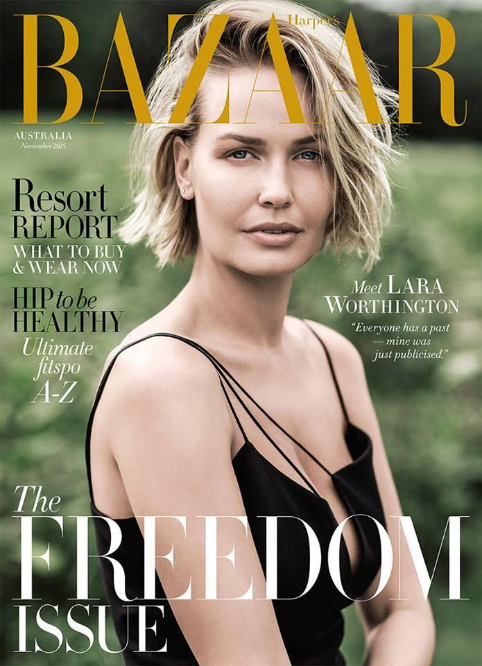 Lara Worthington by Russell James for Harper's Bazaar Australia November 2015