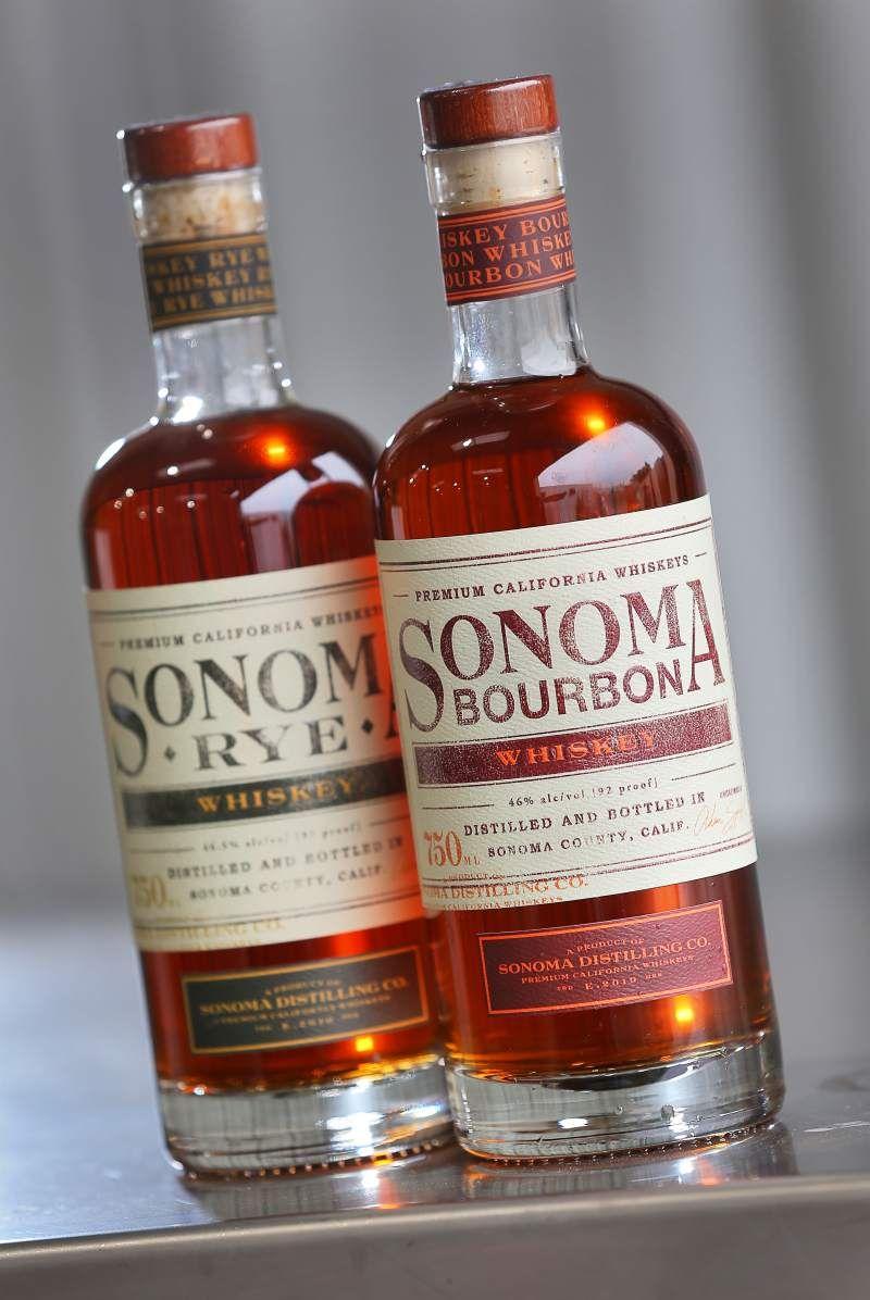 Sonoma Bourbon Whiskey Whisky Wine Label Design