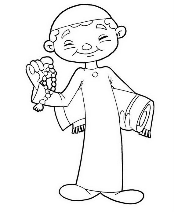 muslim holidays coloring pages - photo#2