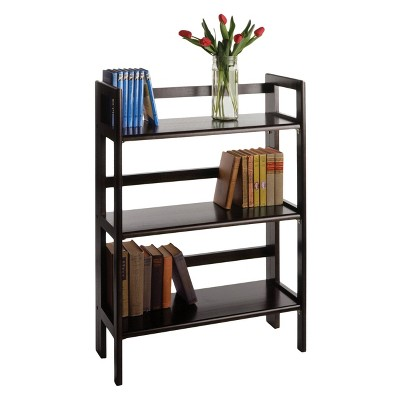 3854 terry folding bookcase black winsome - Folding Bookshelves