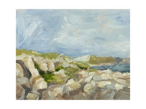 Impasto Mountainside Iv Art Print Ethan Harper Art Com Blue Art Art Fine Art