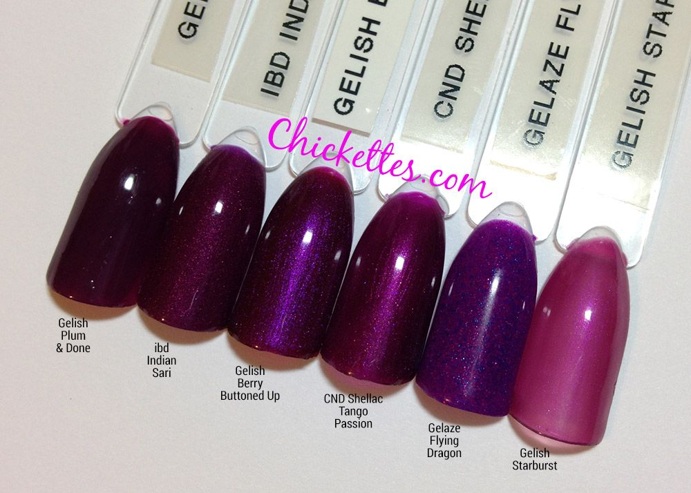 Gelish Get Color Fall Color Comparisons Chickettes Natural Nail Studio Boutique In 2020 Berry Nails Sns Nails Colors Gel Nail Colors