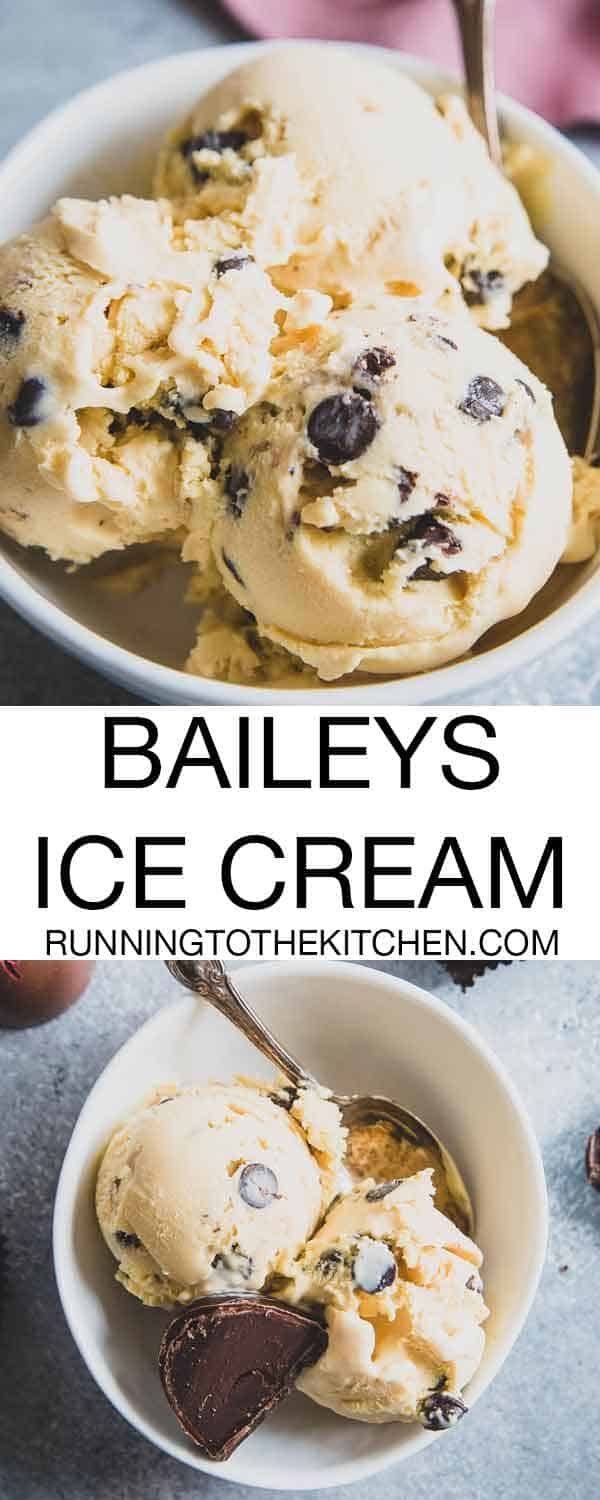 Baileys Ice Cream - Chocolate Chip Baileys Irish Cream Ice Cream Recipe