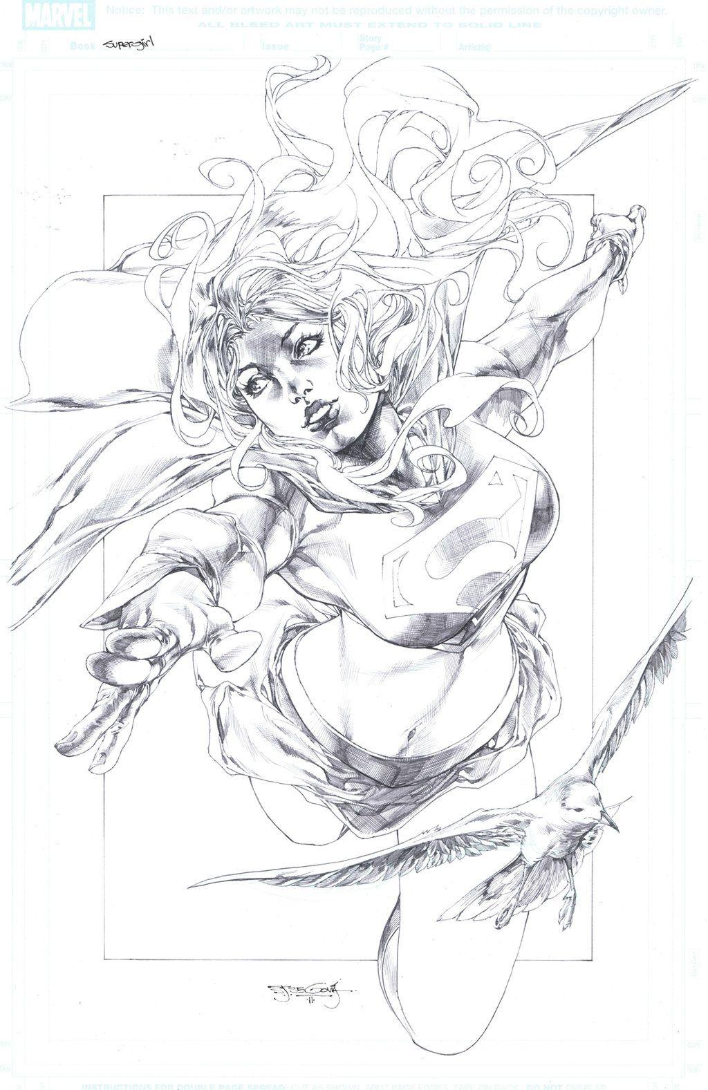 Happy Comic Book Pencil Drawing
