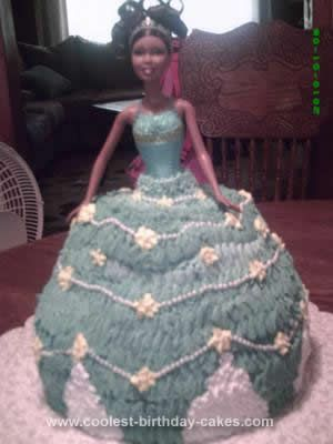 Cute Homemade Barbie Doll Blue Birthday Cake Idea Birthday cakes