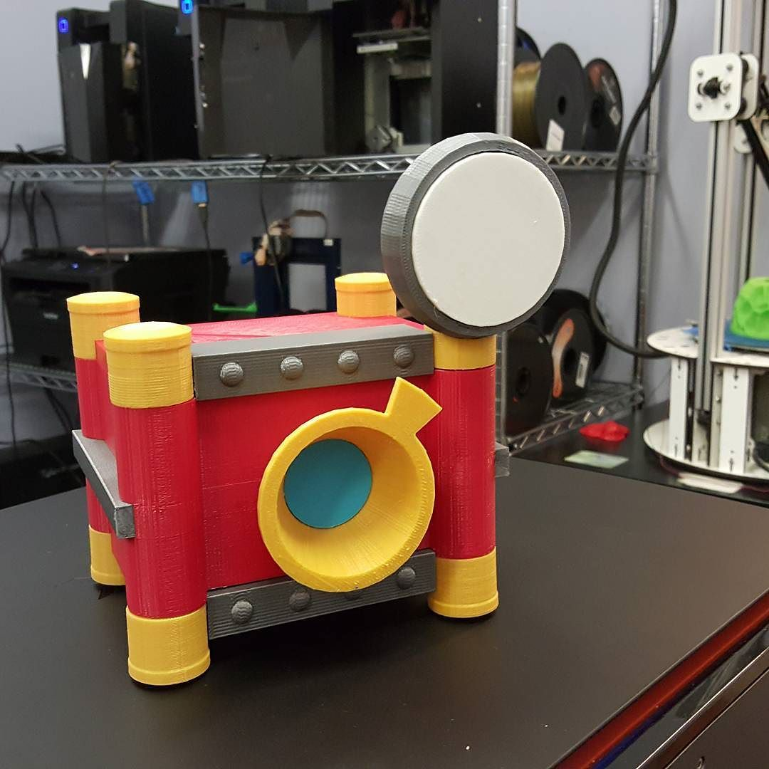 #3dprinted #camera prop made for a #hipster link #cosplay - #zelda #3dprinting #cartoonperfect by carrythewhat