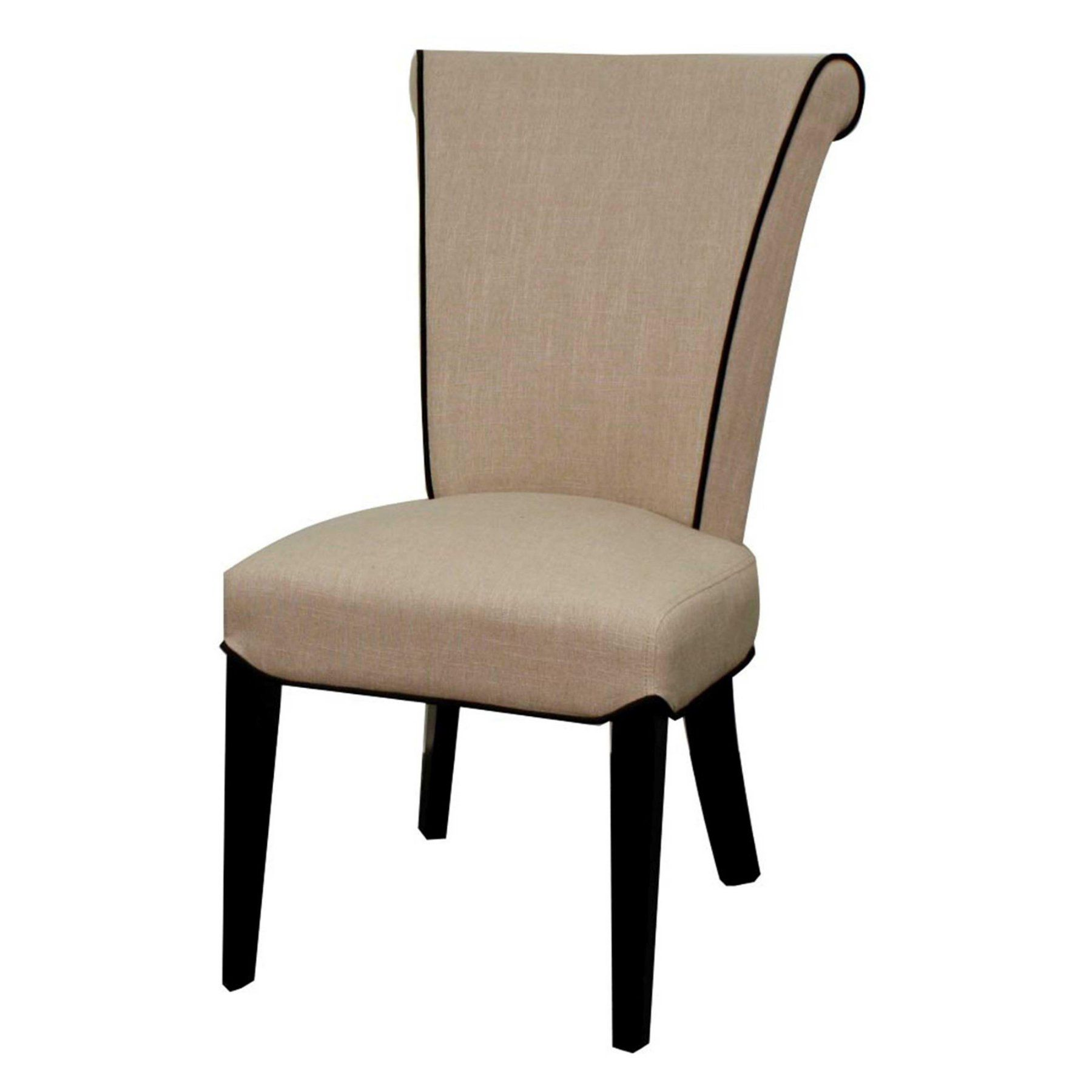 New Pacific Direct Inc Bentley Fabric Dining Chair Black Legs