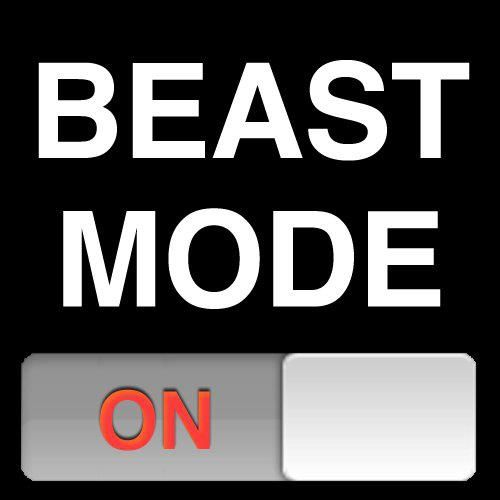 Got your beast mode on, Sierra? That's pretty beast. Me too. How beast is that that we both have our beast modes on? We're beast.