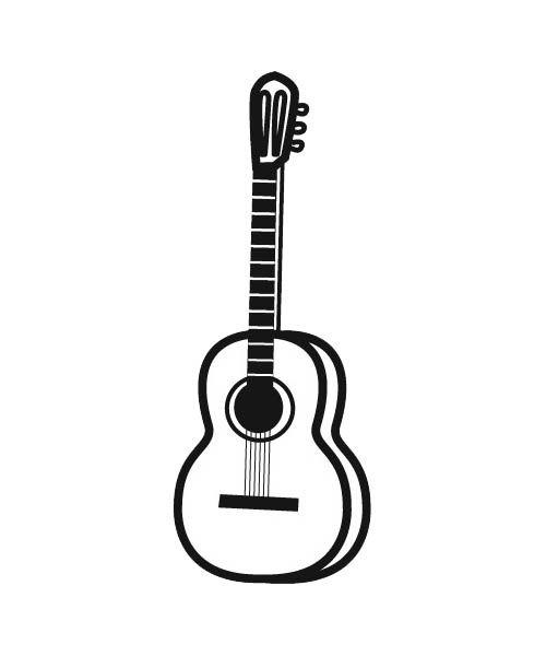 Fabuleux Colorie la guitare, cet instrument de musique à cordes que l'on  KW94