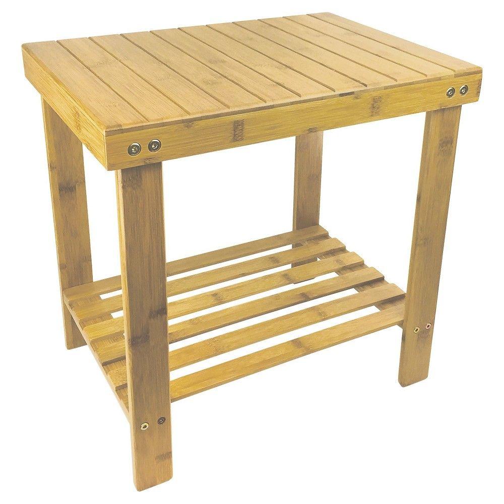 Bamboo Shower Seat Crystal Tan 18\