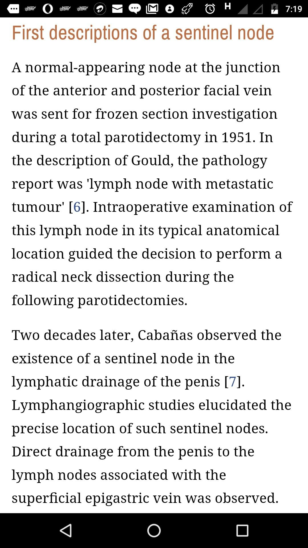 Concept Of Sentinel Node Was Given By Gould Lymph Nodes