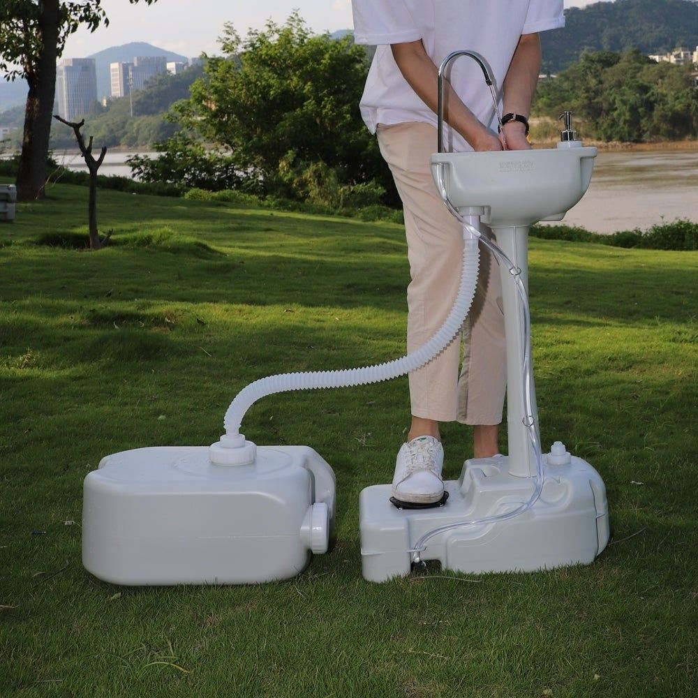 Portable Removable Outdoor Hand Sink with 24L Recovery