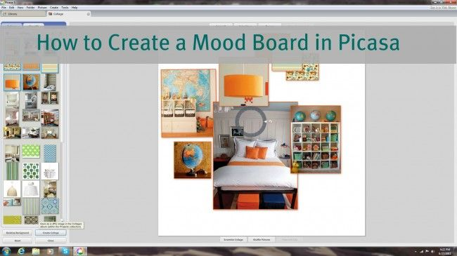 How to create a mood board in Picasa free photo editing software