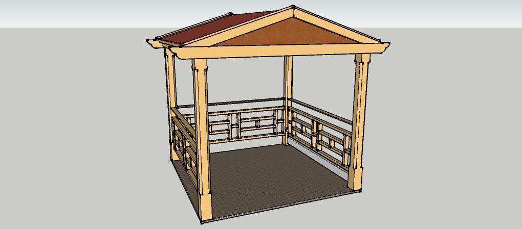 gartenpavillon 2 x 2 meter mit satteldach aus holz zum selber bauen bauanleitungen baupl ne. Black Bedroom Furniture Sets. Home Design Ideas