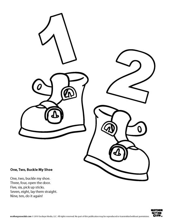 image relating to One Two Buckle My Shoe Printable identified as Pin upon Oo