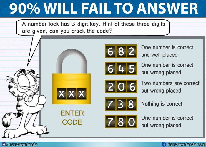 Can You Solve This Number Lock Puzzle 682 Genius Brainteasers