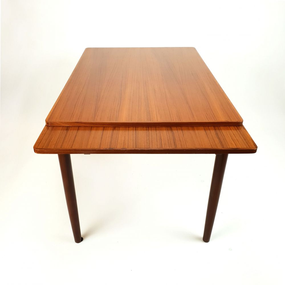 For Sale Mid Century Extandable Teak Dining Table 1960s Teak Dining Table Dining Table Table