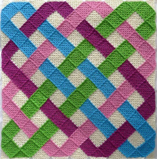 Photo of Crochet – Celtic Knot blanket Square
