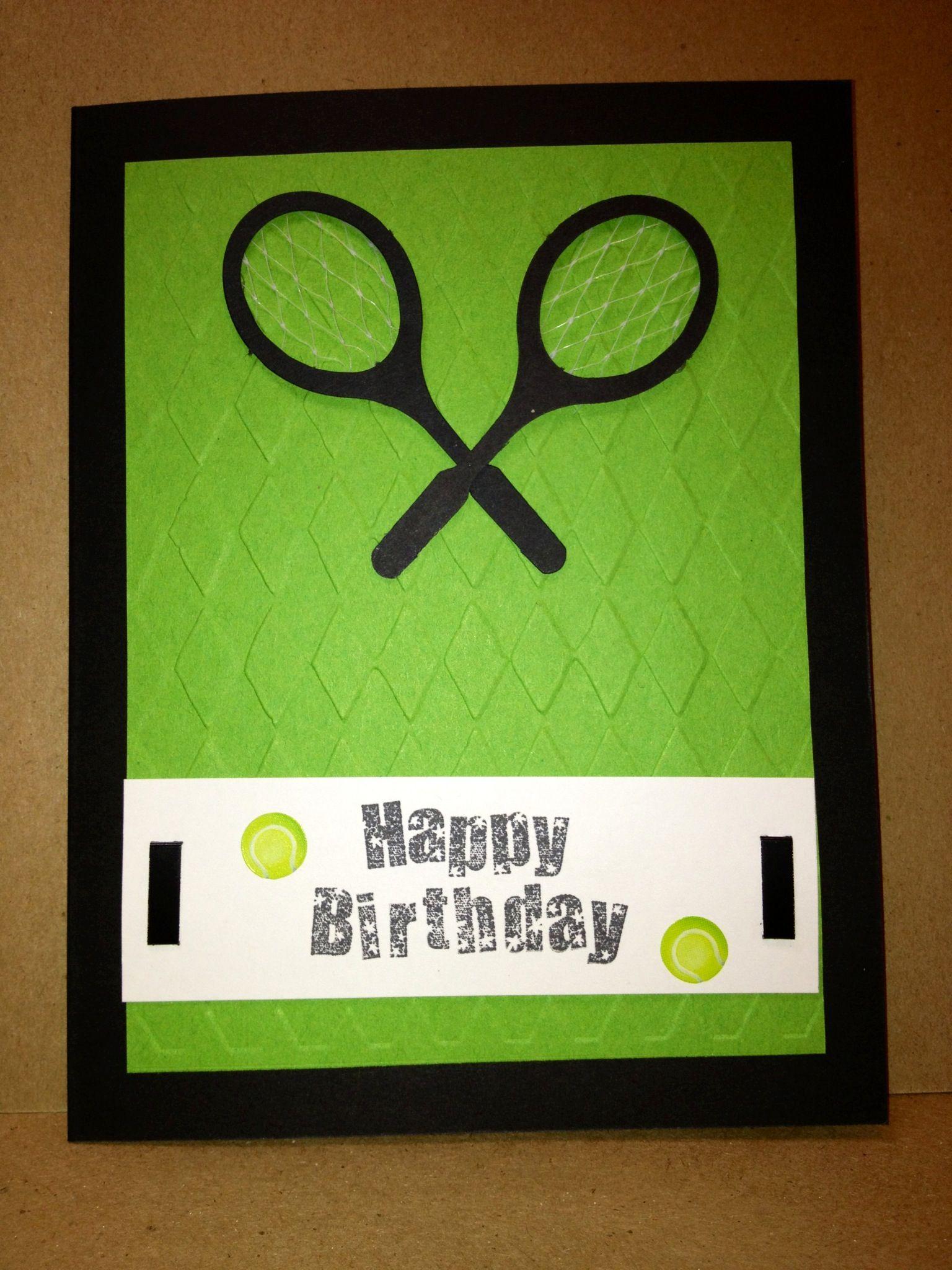 Tennis Birthday Card Happy Birthday Pinterest Tennis