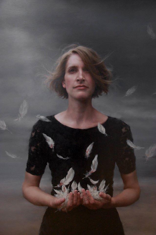 Modern art. Oil painting. Realism. Narrative portraits. Melancholic. Katie O'Hagan. Scottish.