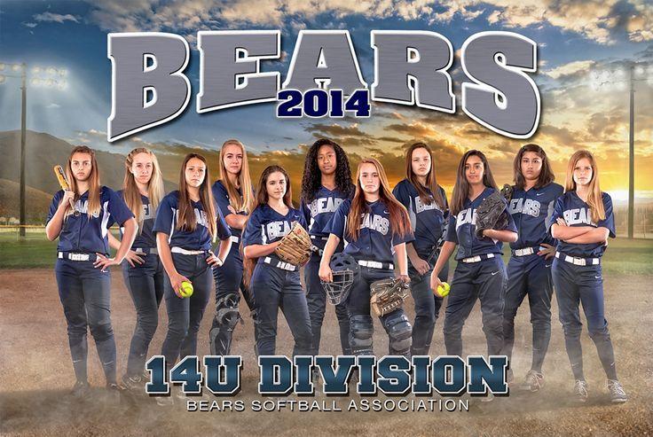 Team Composite Poster Softball photography, Sports team