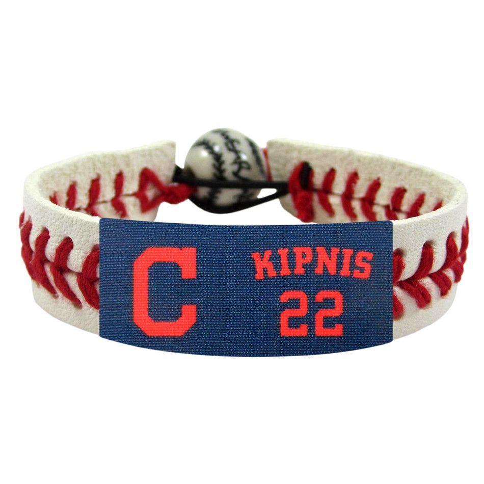 Cincinnati Reds No 22 Jason Kipnis Leather Wristband