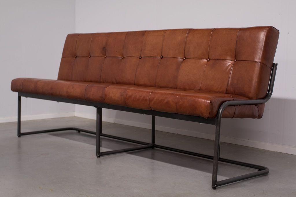 Buffalo Industrie Sitzbank - Vintage Leder Rückenlehne - Art 196