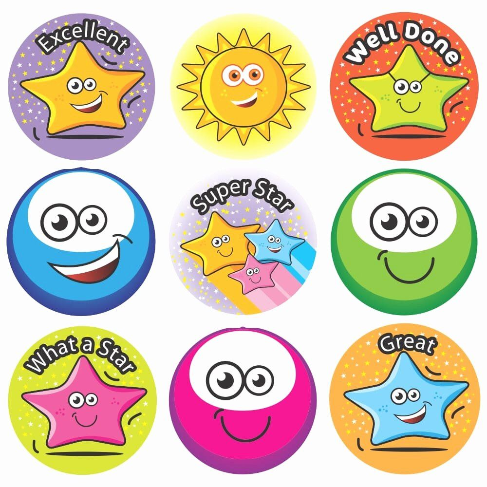 Miss You Stickers Unique Bumper Pack Stickers 3d Stars Smiles