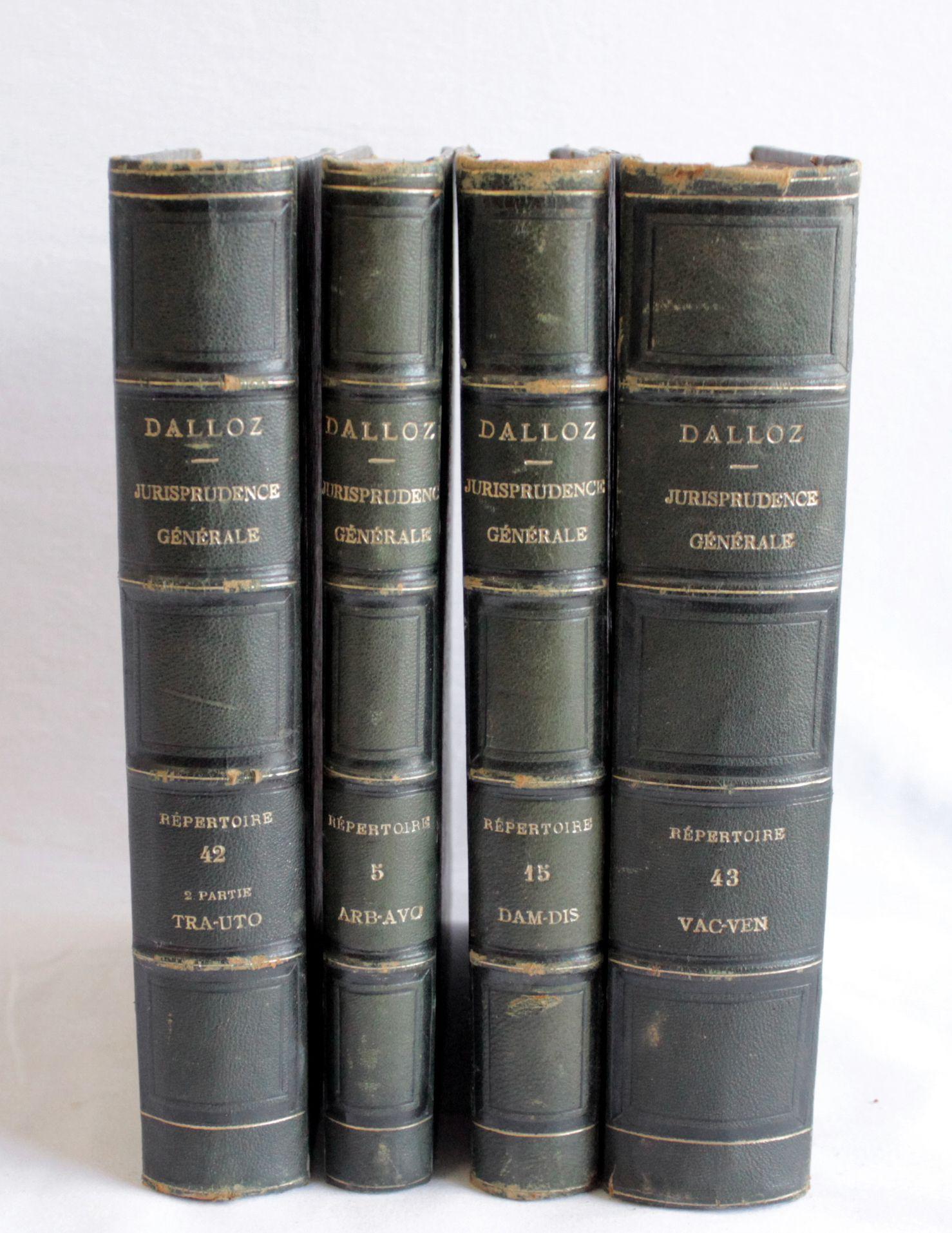 19th century set of 4 antique leather bound books dalloz