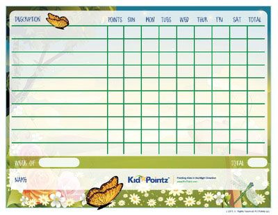 Kids Behavior Charts  Seasons Theme Kid Pointz  Ideas For The