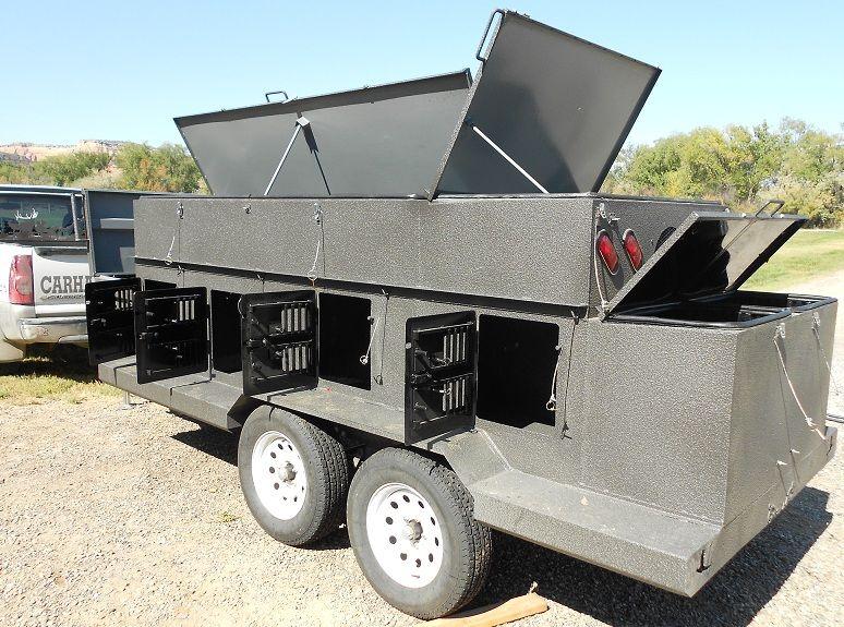 Custom Dog kennel trailer with bedliner coating. Holds 8