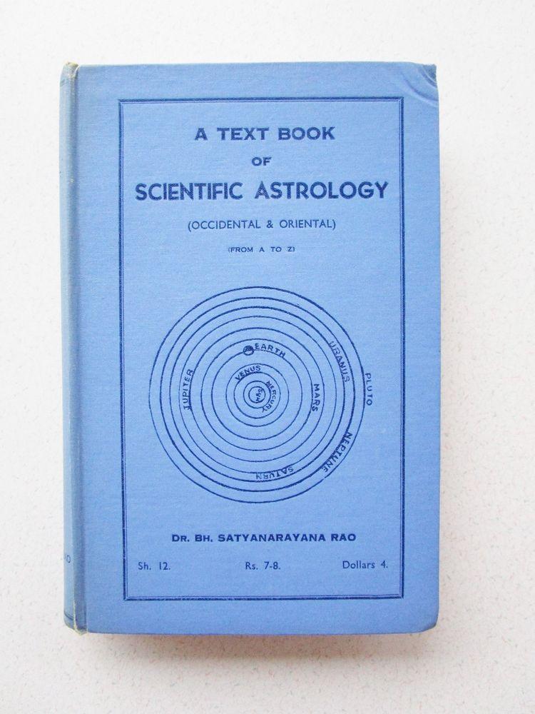 Textbook of Scientific Astrology Dr  Satyanarayana Occidental